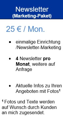 Marketing-Paket/NEWSLETTER