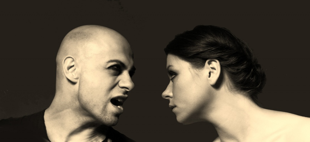 Ärger zwischen Mann und Frau
